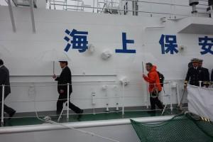 北方領土を視察(海上保安庁の巡視船)