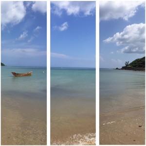 奄美の海にて