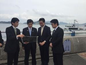 日明海峡釣り公園を視察(北九州市)