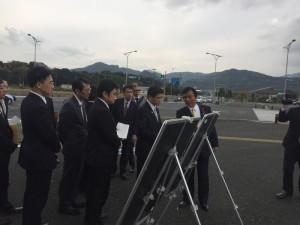 新北九州空港道路を視察